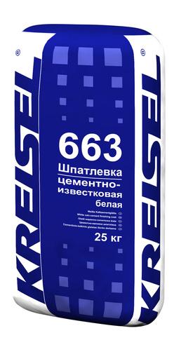 Шпатлевка фасадная WEISSE ZEMENTGLATTE 663 Kreisel